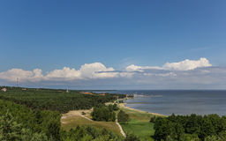 View from the highest dune over the curonian Spit Stock Images