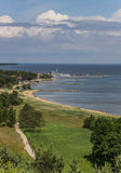 View from the highest dune over the curonian Spit Royalty Free Stock Photos