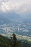 View from the highest mountain. Alpes, France Stock Photos