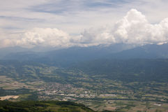 View from the highest mountain. Alps, France. View from the highest mountain Stock Photography