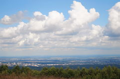 The view from the highest mountain Royalty Free Stock Image