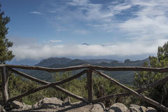 View of the highest mountain of Tenerife. In summer Royalty Free Stock Images