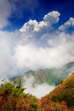View from the highest mountain in Thailand in Doi Inthanon national park Royalty Free Stock Photos