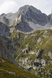 A view of the highest peak in the Komovi moutains royalty free stock image