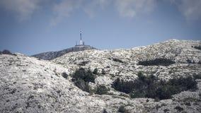 View of the highest Peak, Sveti Jure, within the Biokovo Mountains in Makarska, Croatia royalty free stock photography
