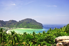 Beautiful tropical landscape. Phi-phi island, Thai Royalty Free Stock Photography
