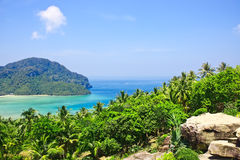 View from the highest point of Phi-Phi island in T Royalty Free Stock Images