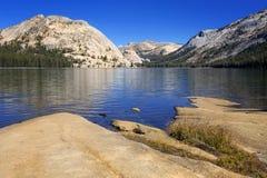 Tenaya lake, Yosemite National park, California. A view on highland lake, Tenaya lake in Yousemite National park, near highway 120 Royalty Free Stock Photography