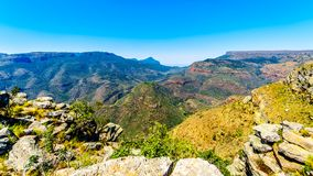 View of the highveld and the Blyde River Canyon along the Panorama Route Stock Images