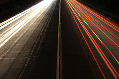 View of highway from above Royalty Free Stock Photo