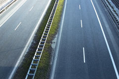 View of the highway from the bridge Royalty Free Stock Images