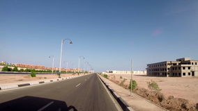 View on highway and landscape. Egypt, Africa stock video