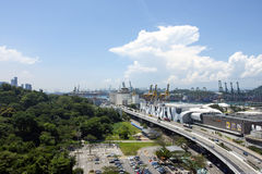 A view of the highway, Singapore Royalty Free Stock Photography