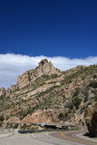 A view of the highway to Mt Lemmon in Arizona Royalty Free Stock Photography