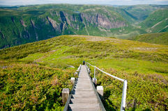 The view from a hike in beautiful Newfoundland. A scenic hike in the Gros Morne National Park of Newfoundland royalty free stock images