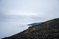 View during Hiking glacier Hvannadalshnukur summit in Iceland mountain volcano landscape Vatnajokull park Royalty Free Stock Photo