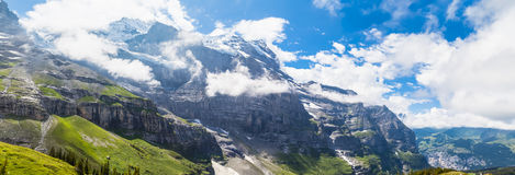 View on the hiking path near Eiger Royalty Free Stock Photography