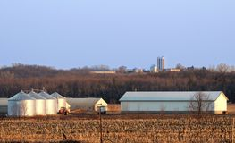 Spring in Iowa:  Farmland with room for text. Stock Photo