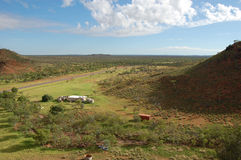 View from the hill. To Australian bush, Barrow Creek, Northern Territory, Australia Stock Images
