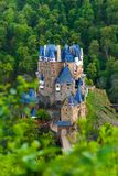 View from hill above of Eltz castle in Germany Royalty Free Stock Image