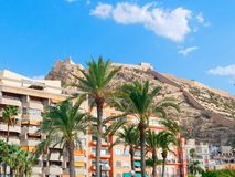 View of the hill at the Alicante coast, Spain. royalty free stock image