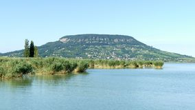 View of hill Badacsony from lake Balaton, Hungary royalty free stock image