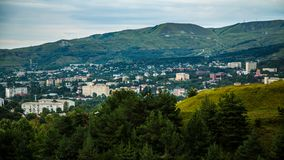 View from the hill on the city of Kislovodsk. Russia royalty free stock photo