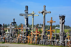 View of hill of crosses Royalty Free Stock Photo