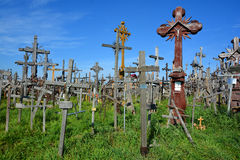 View of hill of crosses Stock Photo