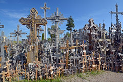View of hill of crosses Stock Photography