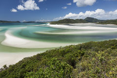 View from Hill Inlet with beach background Stock Photos