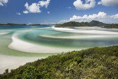 View from Hill Inlet with beach background Stock Photo