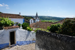 View from the hill. Obidos, Portugal Stock Images