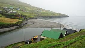 view of the river, Torshaven, Faroes islands