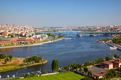 View from the Hill of Pierre Loti to the Golden Horn, Istanbul Stock Photo