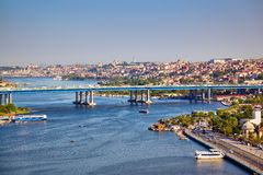View from the Hill of Pierre Loti to the Golden Horn, Istanbul Royalty Free Stock Photography