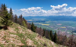 View from hill Predny Choc, Slovakia Stock Images