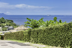 View from the hill in Rio de Janeiro royalty free stock photo