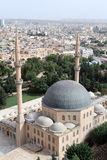 Great mosque and Urfa. View from the hill on the roof of Great mosque in Urfa, Turkey Stock Image
