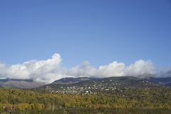View Of Hill Side Anchorage Alaska Stock Photo