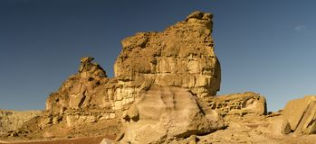 View on the hill Sphinx in Timna park, Israel Royalty Free Stock Image