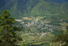 View from the hill, Takthsang Goemba, Bhutan Stock Photography