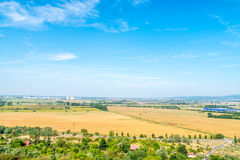 View from hill to valley, Bratislava, Slovakia, car factory on horizon Stock Photography