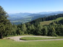 View of hills in beautiful Austria Royalty Free Stock Image