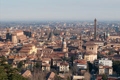View from the hills of the city of Bologna Stock Photography
