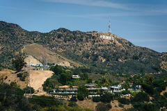 View of hills and the Hollywood Sign from  Mulholland Drive  Royalty Free Stock Images