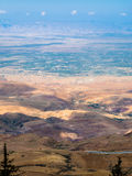 View hills in Holy Land from Mount Nebo in winter Royalty Free Stock Image