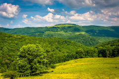 View of hills and mountains in the rural Potomac Highlands of We Stock Images