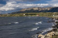View of the hills near Puerto Natales Stock Image