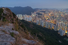 View of hills and New Kowloon in Hong Kong Royalty Free Stock Photos